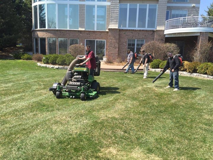 Spring Lawn Clean Up